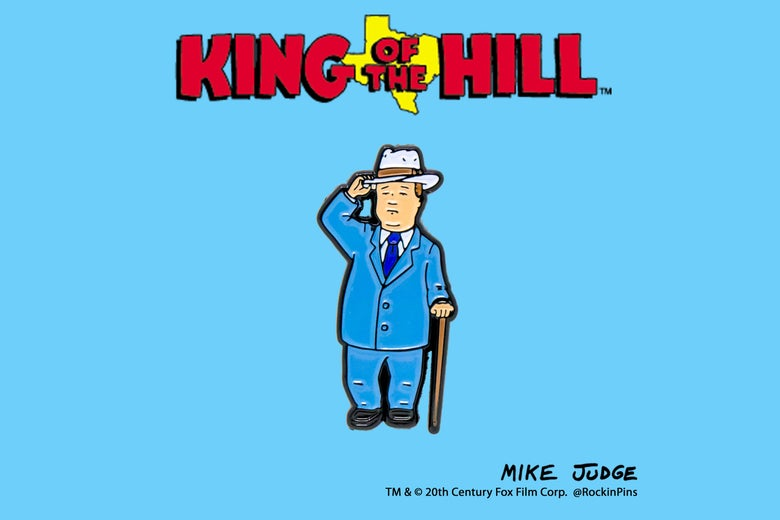 Image of King of the Hill - Bobby Hill Flower is Wilting Pin