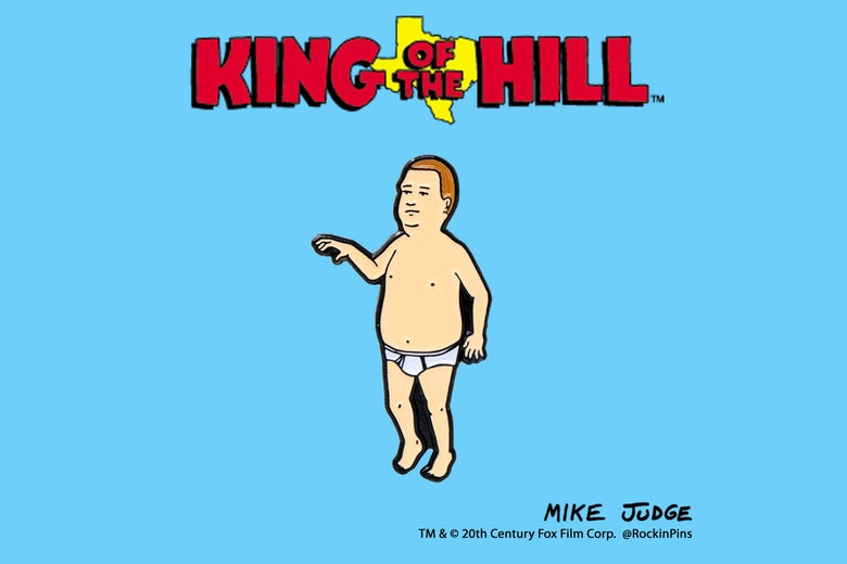 Image of King of the Hill - Bobby Hill Underwear Enamel Pin