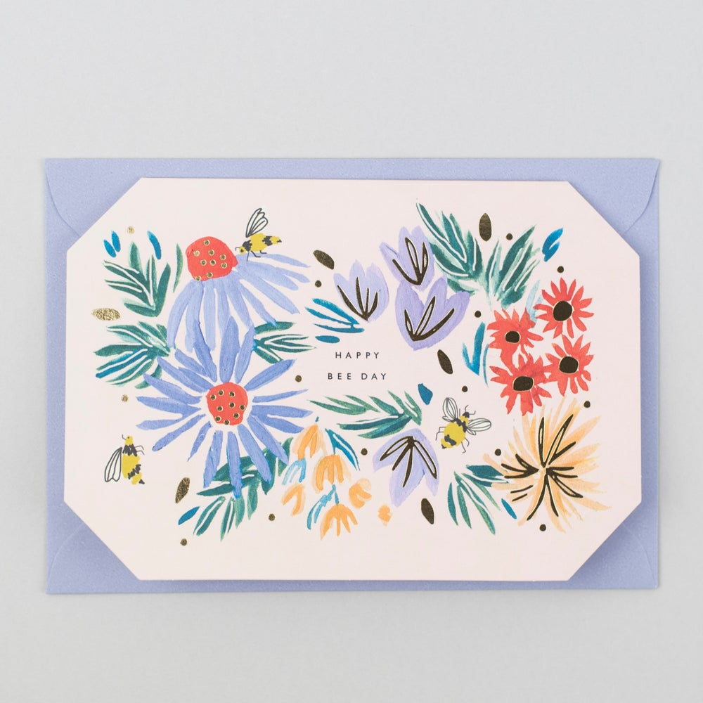 Image of Happy Bee Day Shaped Card