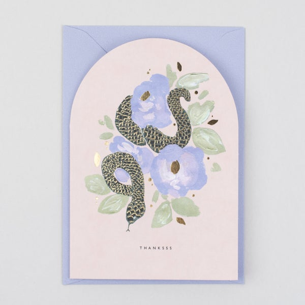 Image of Thanks Shaped Snake Card