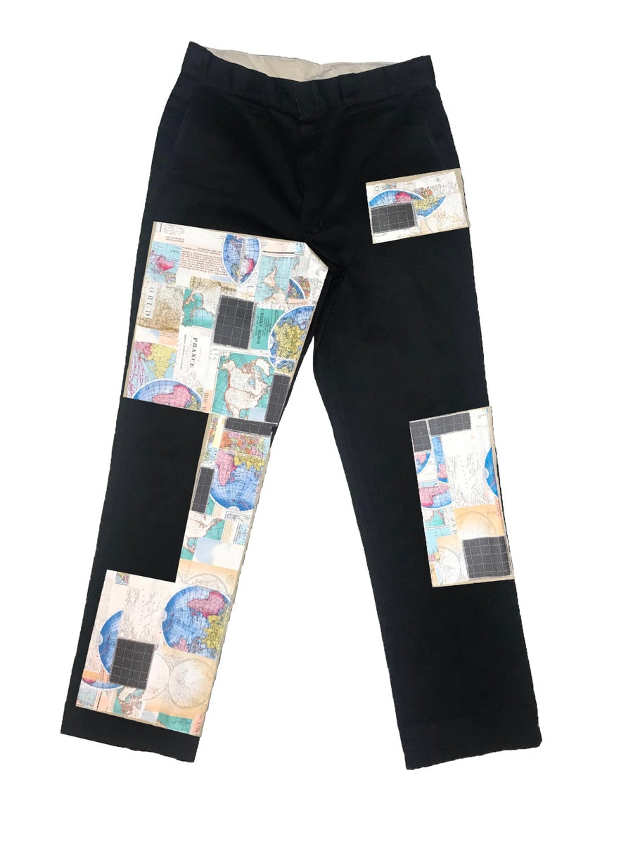 Image of AXECENTS MAP PACK REGULAR FIT WORK PANTS - BLACK