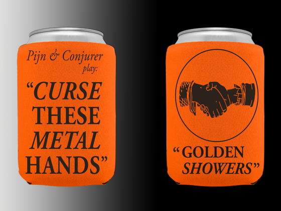 Image of Curse These Metal Hands - Golden Koozie