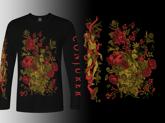 Image of 'Mire' Longsleeve - Gold / Red