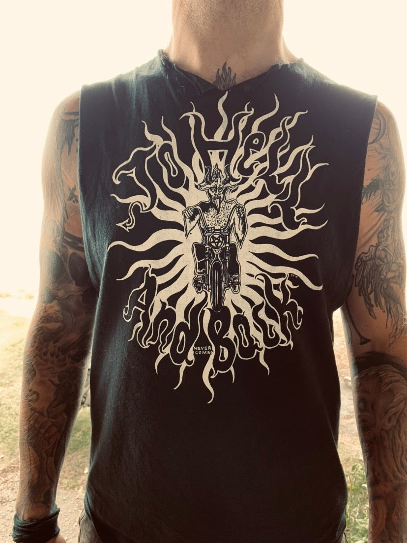 Image of To Hell Black shirt for Men