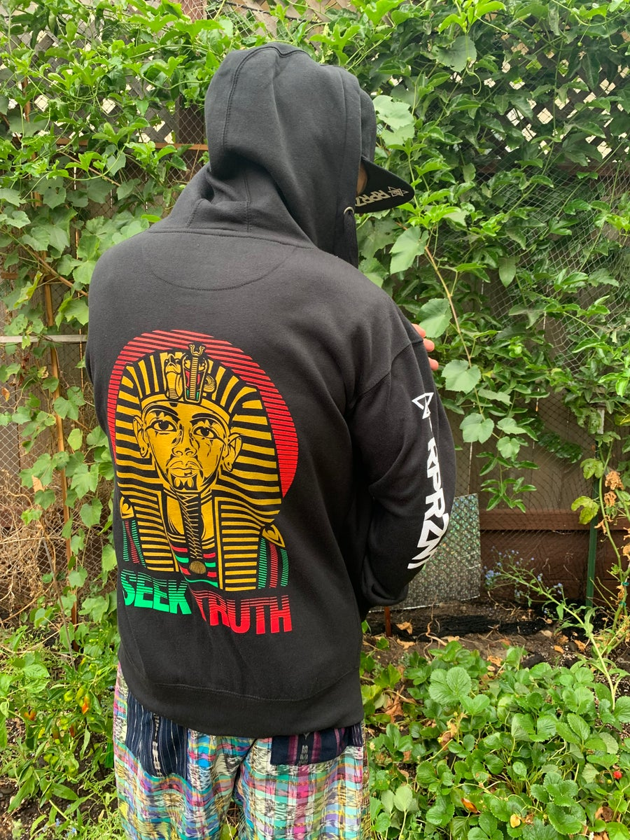 Image of Seek Truth Rasta Limited Zip Up Hoodie