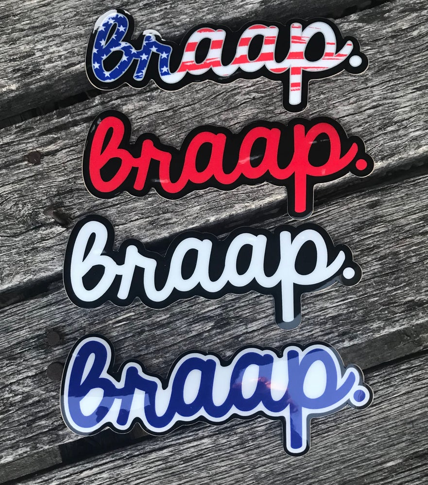 Image of Braap Cursive Decals