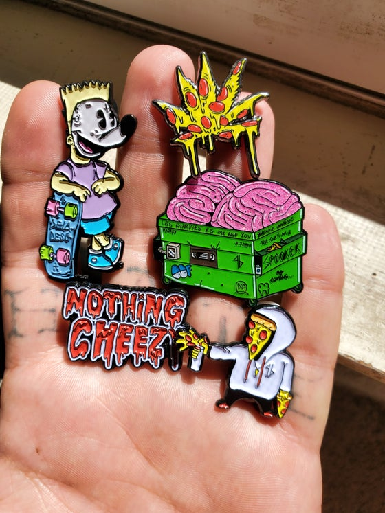 Image of Deladeso's Los Dumpies exclusive #NothingCheezy collection