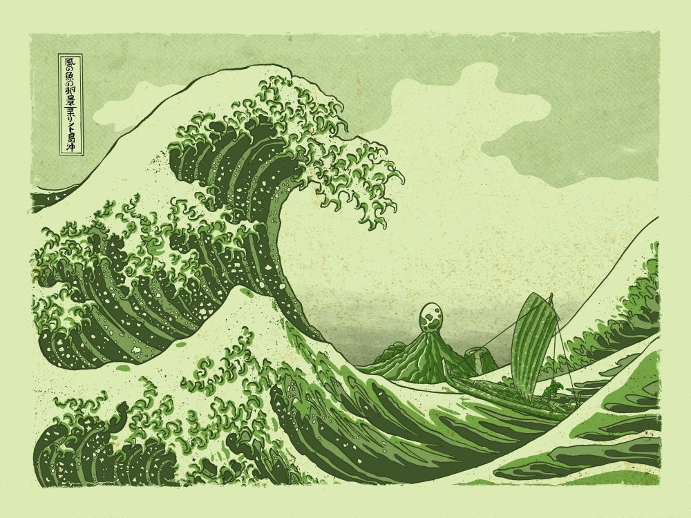 Image of Great Wave Off Koholint Island (Game Boy Variant)