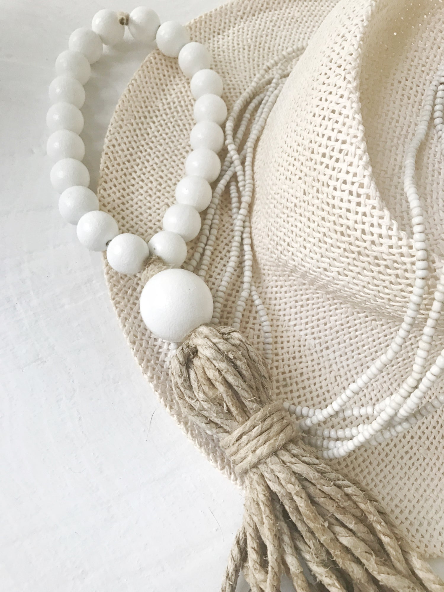 Image of Welcome Tassel - White