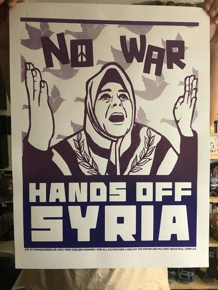 Image of Hands Off of Syria poster (2013)