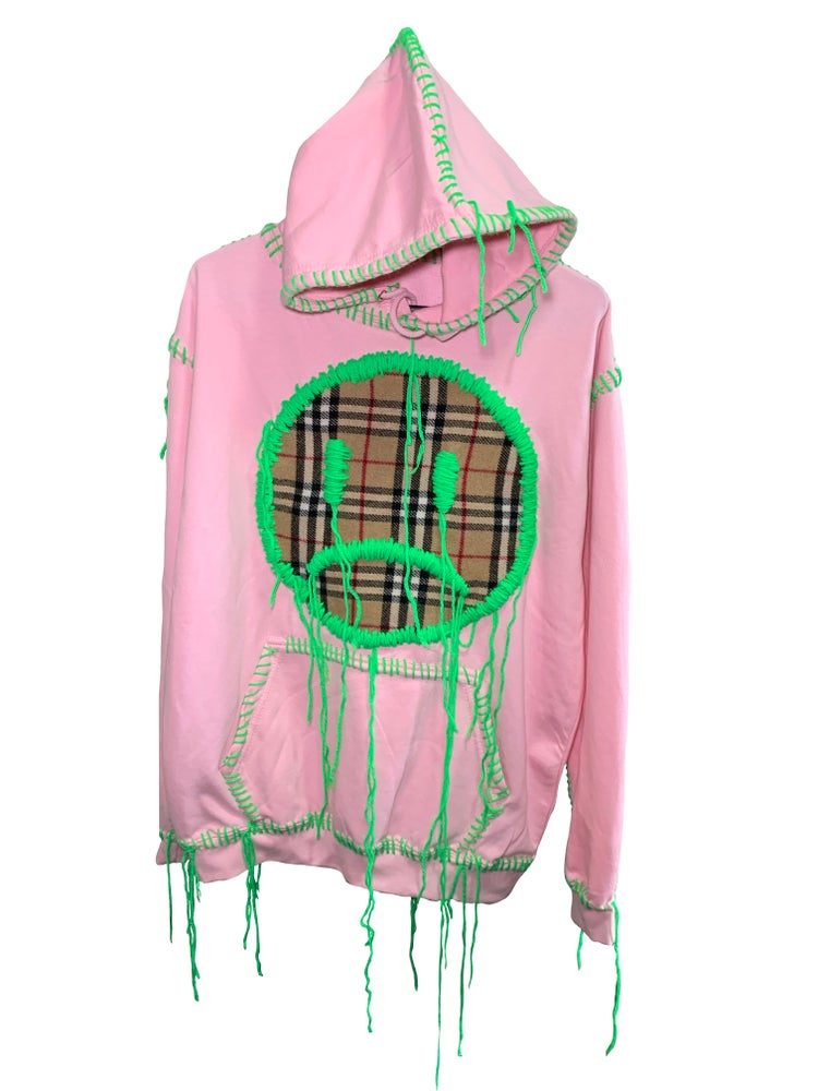 Image of BABYPINK X FAKE BURBERRY HOODIE