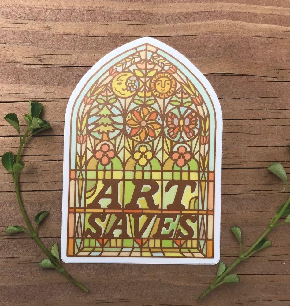 Image of Art Saves - Vinyl Sticker