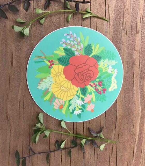Image of Bedsheet Bouquet - Vinyl Sticker