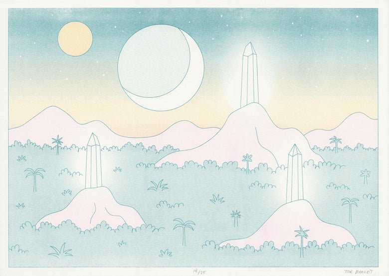 Image of Crystal hills (riso print)