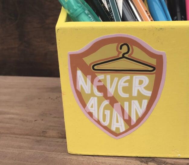 Image of Never Again Vinyl Sticker