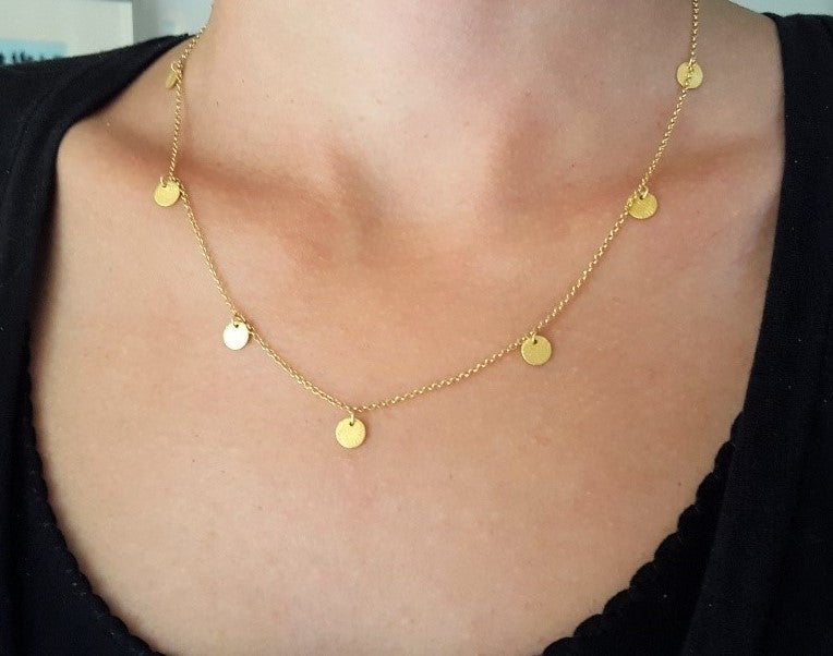 Image of Golden disks necklace