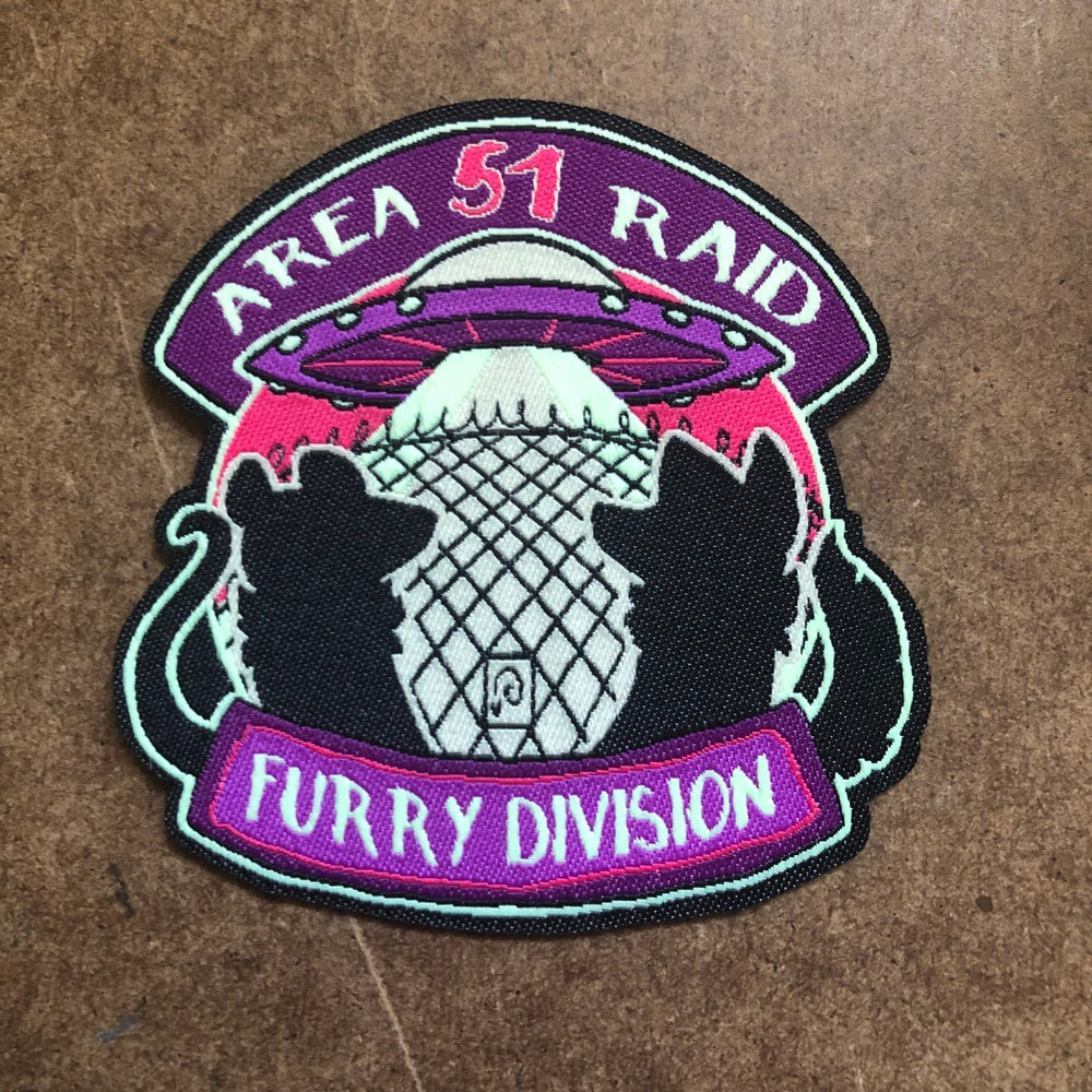 Image of Area 51 Raid Furry Division Patch (It glows!) PRE ORDER!!