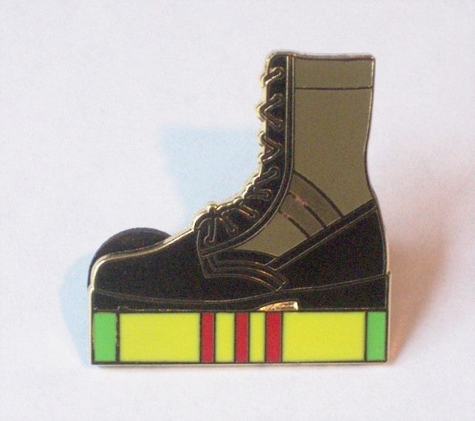 Image of Vietnam Jungle Combat Boot Pin