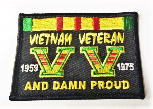 Image of Vietnam Veteran and Damn Proud Patch
