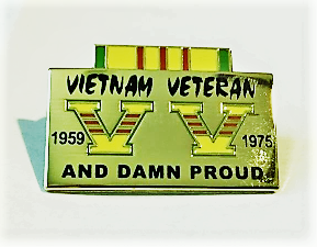 Image of Vietnam Veteran Damn Proud Pin