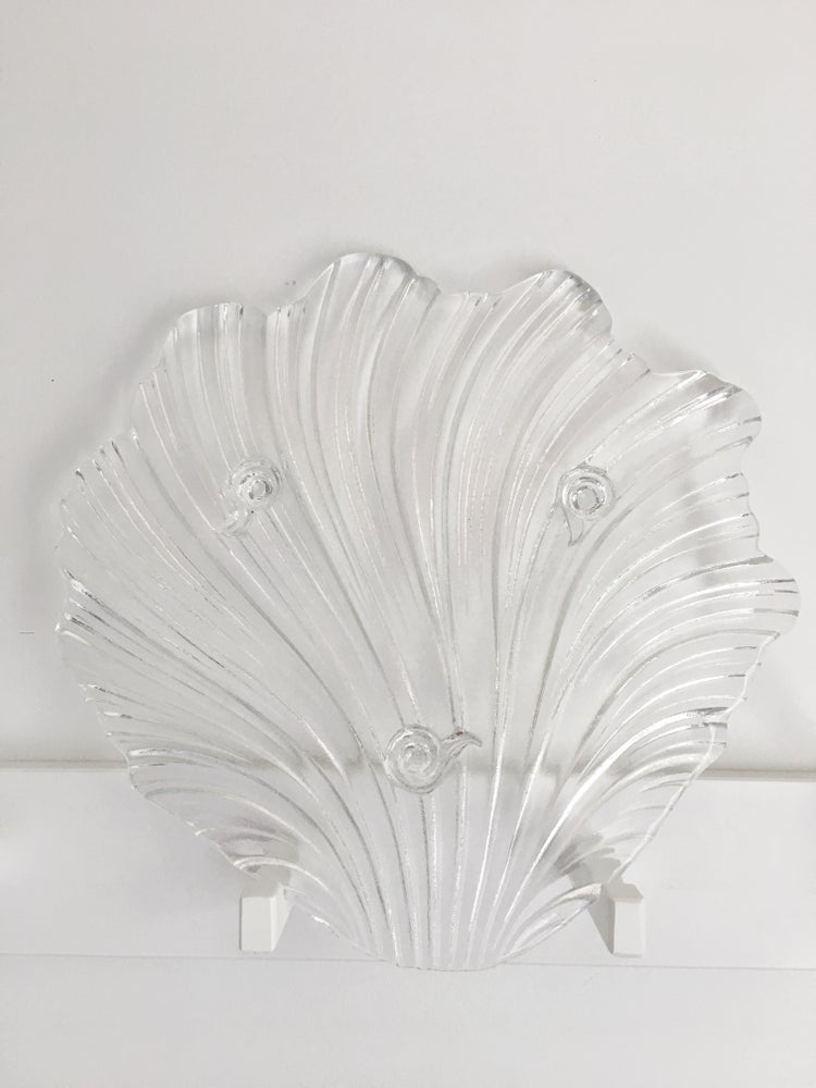 Image of Unique Glass Shell Serving Tray
