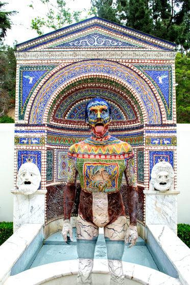 Image of Getty Villa East Garden Mosaic, Set of 2