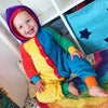 Rainbow Patchwork Mega Floof Suit