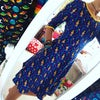 Skater Dress With 3/4 Sleeves