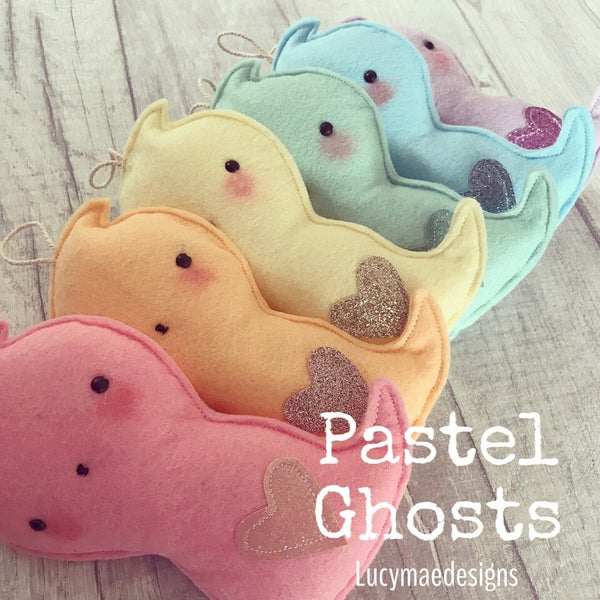 Image of Pastel Ghost Decorations
