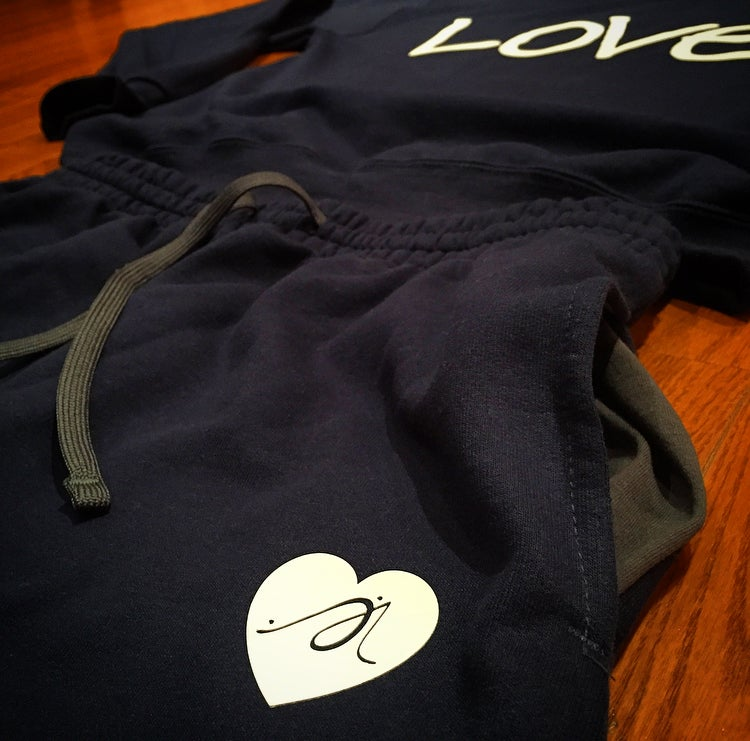 "Image of Navy x White ""Love...period!"" Sweatsuit"