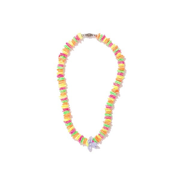 Image of Multi Colour Puka Flower Necklace