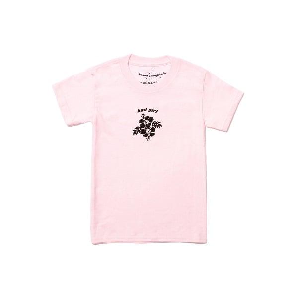 Image of Bad Girl Hibiscus Tee Baby Pink 🌺