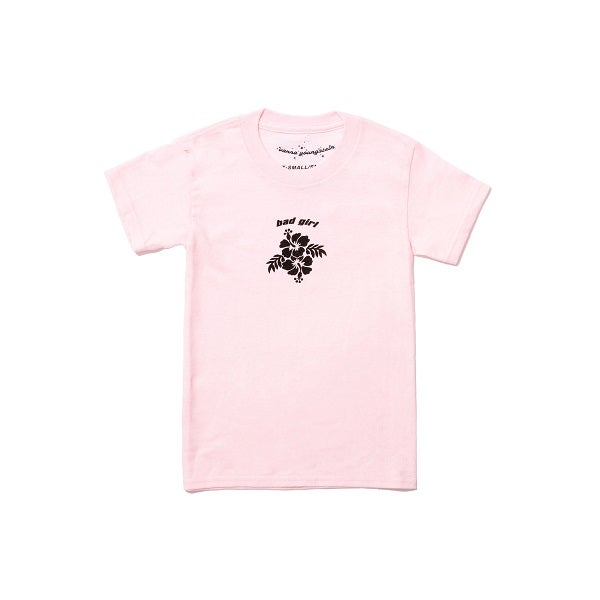 Image of Bad Girl Hibiscus Tee Baby Pink 🌺