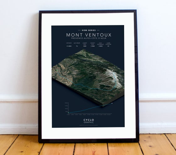 Image of Mont Ventoux KOM series print A4 or A3 - By Graphics Monkey