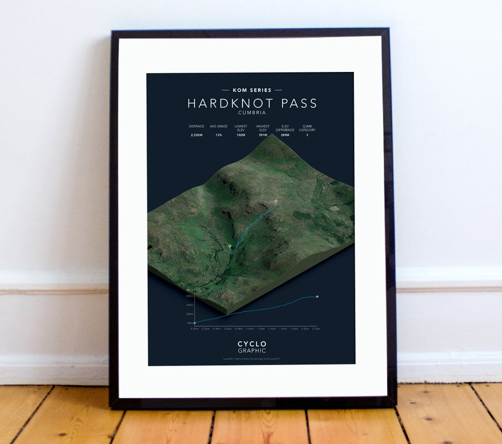 Image of Hardknot Pass KOM series print A4 or A3 - By Graphics Monkey
