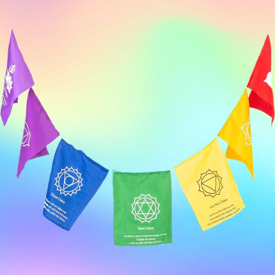 Image of Seven Chakra Healing Flag