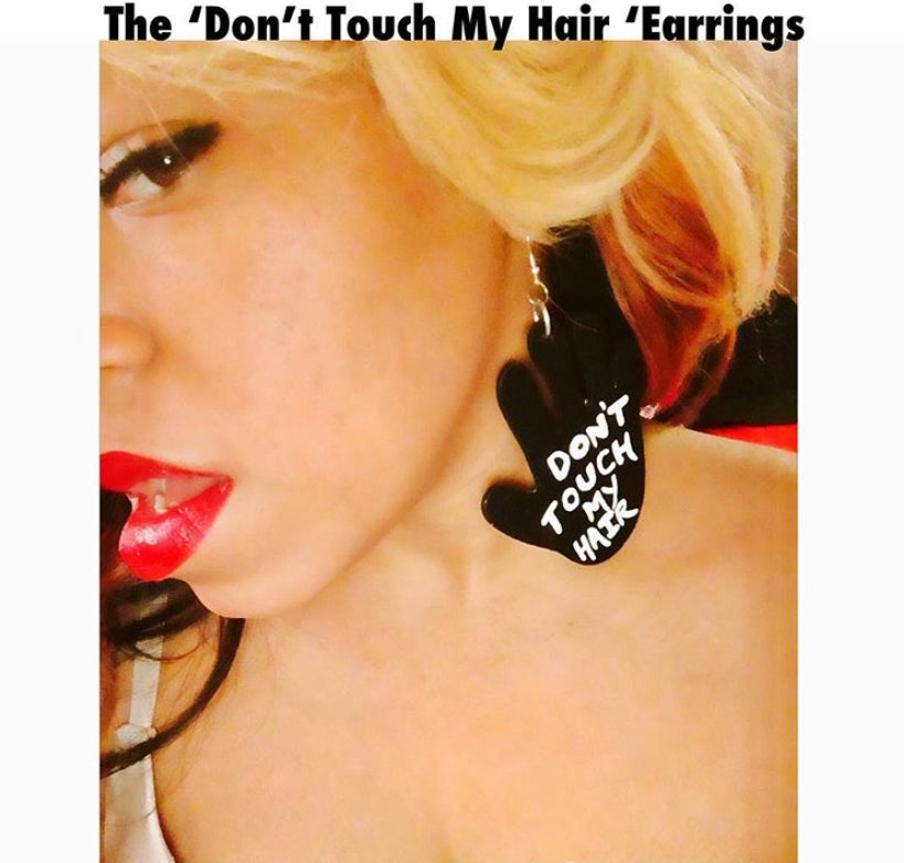 """Image of The """"Don't Touch My Hair"""" Earrings"""