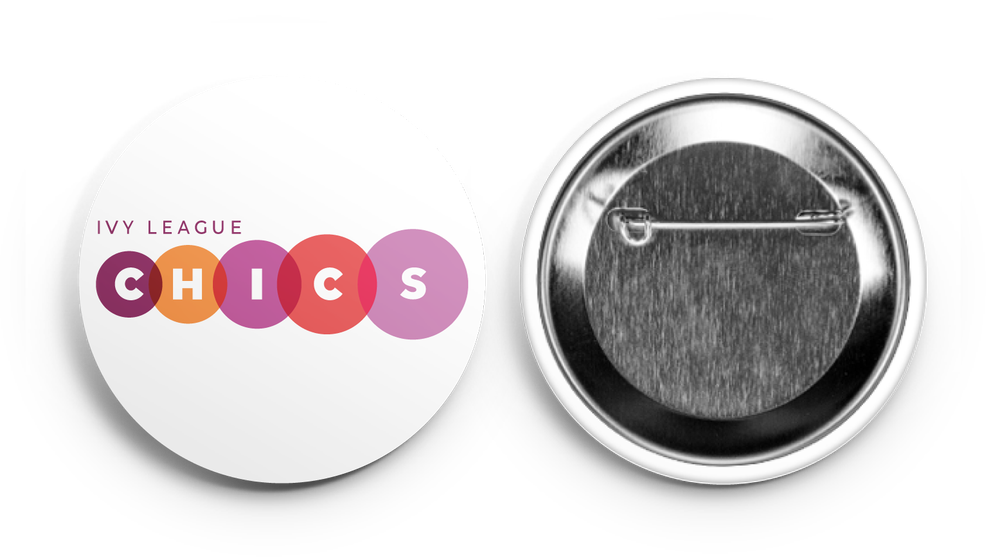 Image of ivy league CHICS logo Button