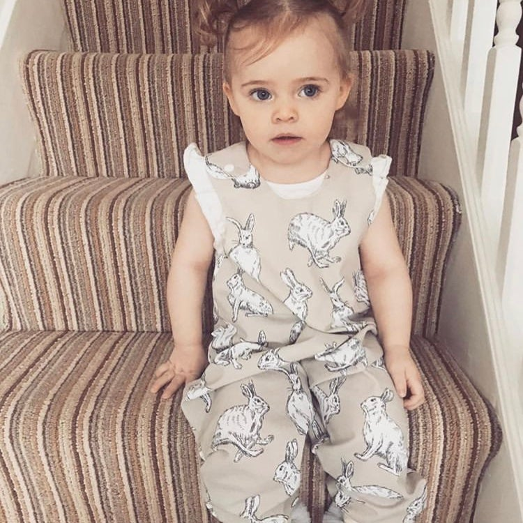 Image of Natural Bunny Romper