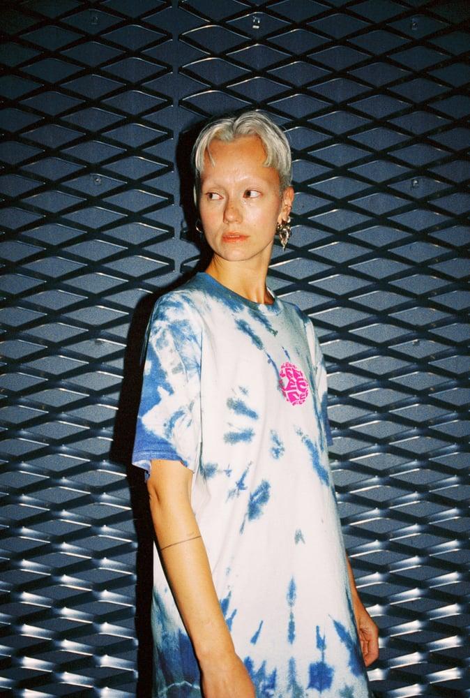 Image of SLEEP—DESTROY INTERNET T-shirt tie-dye multicolor