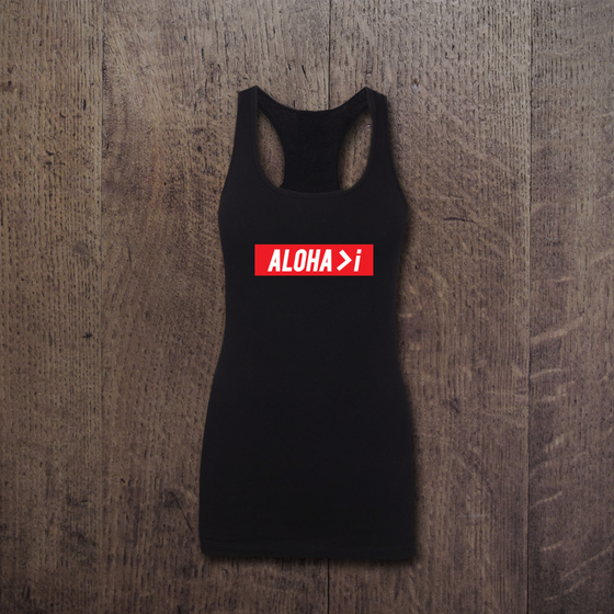 Image of ALOHA>I BANNER Racerback
