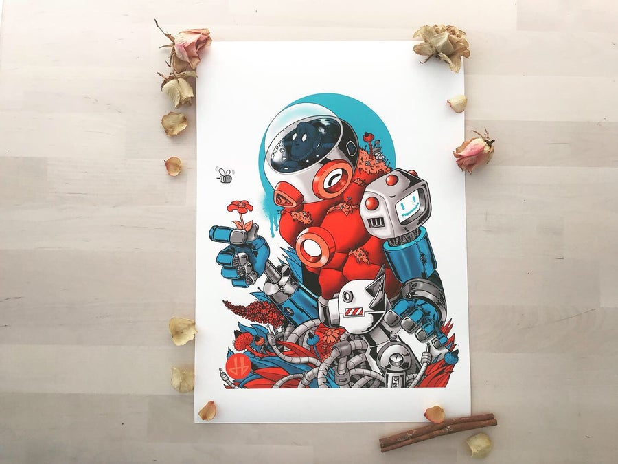 Image of Deadbeat Hero Austrianaut Giclée Print