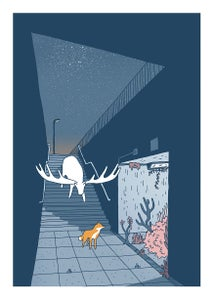 Image of The Great North Wood Print by Tim Bird