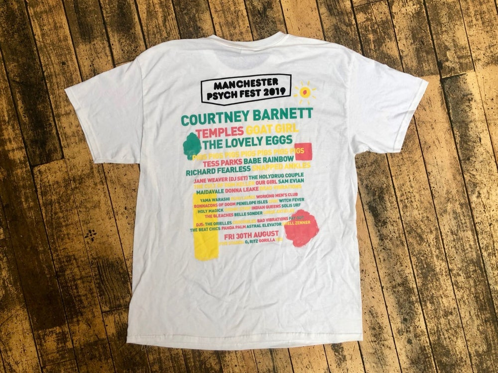 Image of Manchester Psych Fest 2019 line-up T-shirt