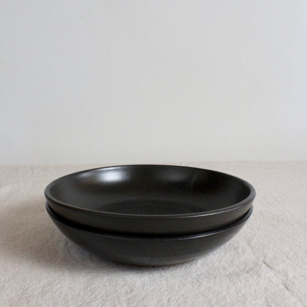 Image of Shallow Bowl - Black