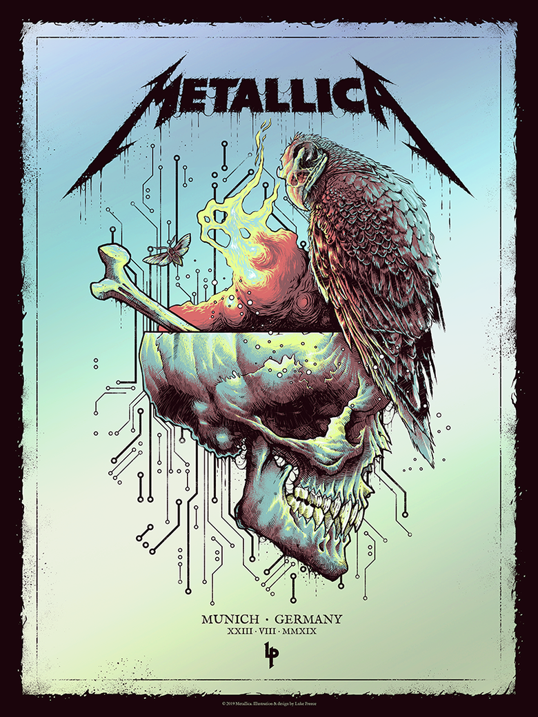 Image of METALLICA - MUNICH 'LIME' FOIL EDITION