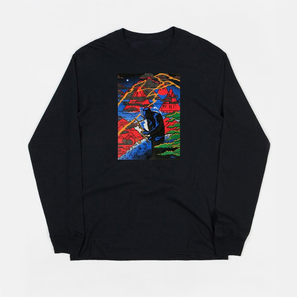 Image of Coltrane  (black long sleeve t-shirt)