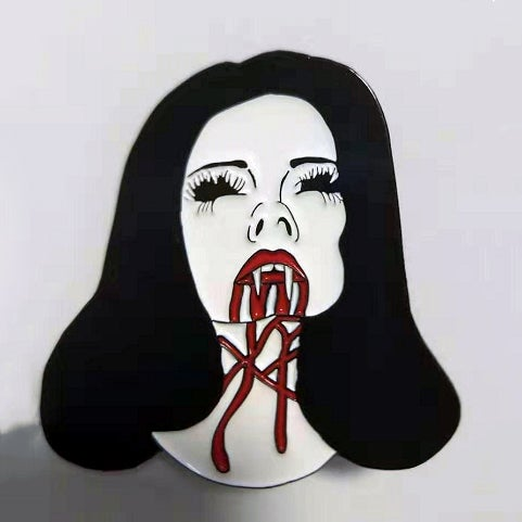 Image of Vampire Girl enamel pin