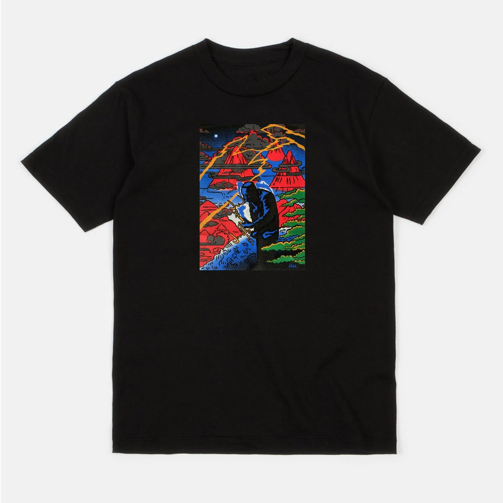 Image of Coltrane (Black short sleeve t-shirt)