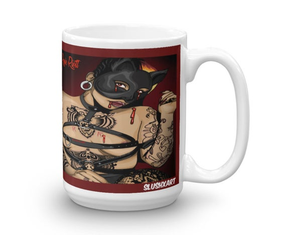 Image of Blood, Leather, and Bondage.. Mug ;)